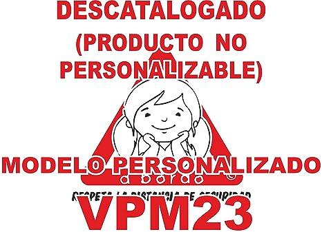 Pegatina bebé a bordo personalizada VPC23-2C. DISEÑADO, VENDIDO Y ENVIADO POR VPM ORIGINAL. 100% PRODUCTO ESPAÑOL. NO COMPRAR AL VENDEDOR