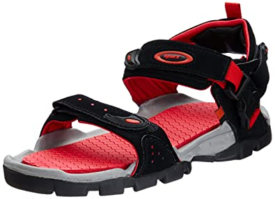 4e7687bf1 Sparx Men s Black and Red Athletic and Outdoor Sandals - 10 UK India(44.67