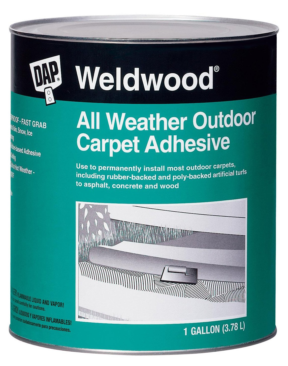 Amazon dap 00442 weldwood all weather outdoor carpet adhesive amazon dap 00442 weldwood all weather outdoor carpet adhesive 1 quart home improvement baanklon Choice Image