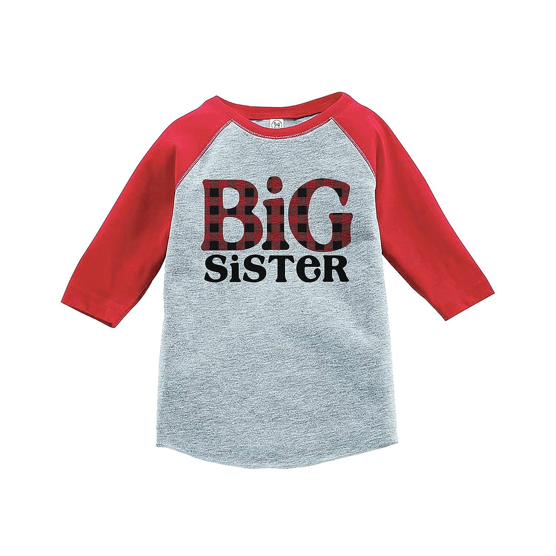 7 ate 9 Apparel Girls Big Sister Red Baseball Tee