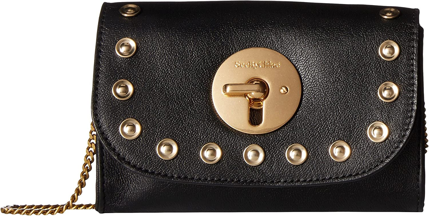Amazon.com  See by Chloe Women s Mini Lois Studded Black One Size  Shoes 4be7f2bcdbf95