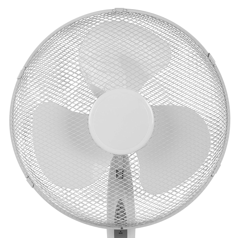 T/él/écommande//minuterie Tristar VE-5898 Ventilateur sur pied Blanc /Ø 40 cm