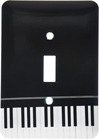3drose Llc Lsp 112947 1 Black Piano Edge Baby Grand Keyboard Music Design For Pianist Musical Player And Musician Gifts Single Toggle Switch Switch Plates Amazon Com