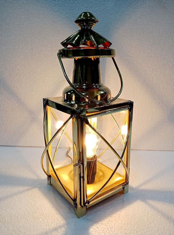 Antique Electric Vintage Brass Lamp Maritime Ship Lantern Boat Light Home Decorative