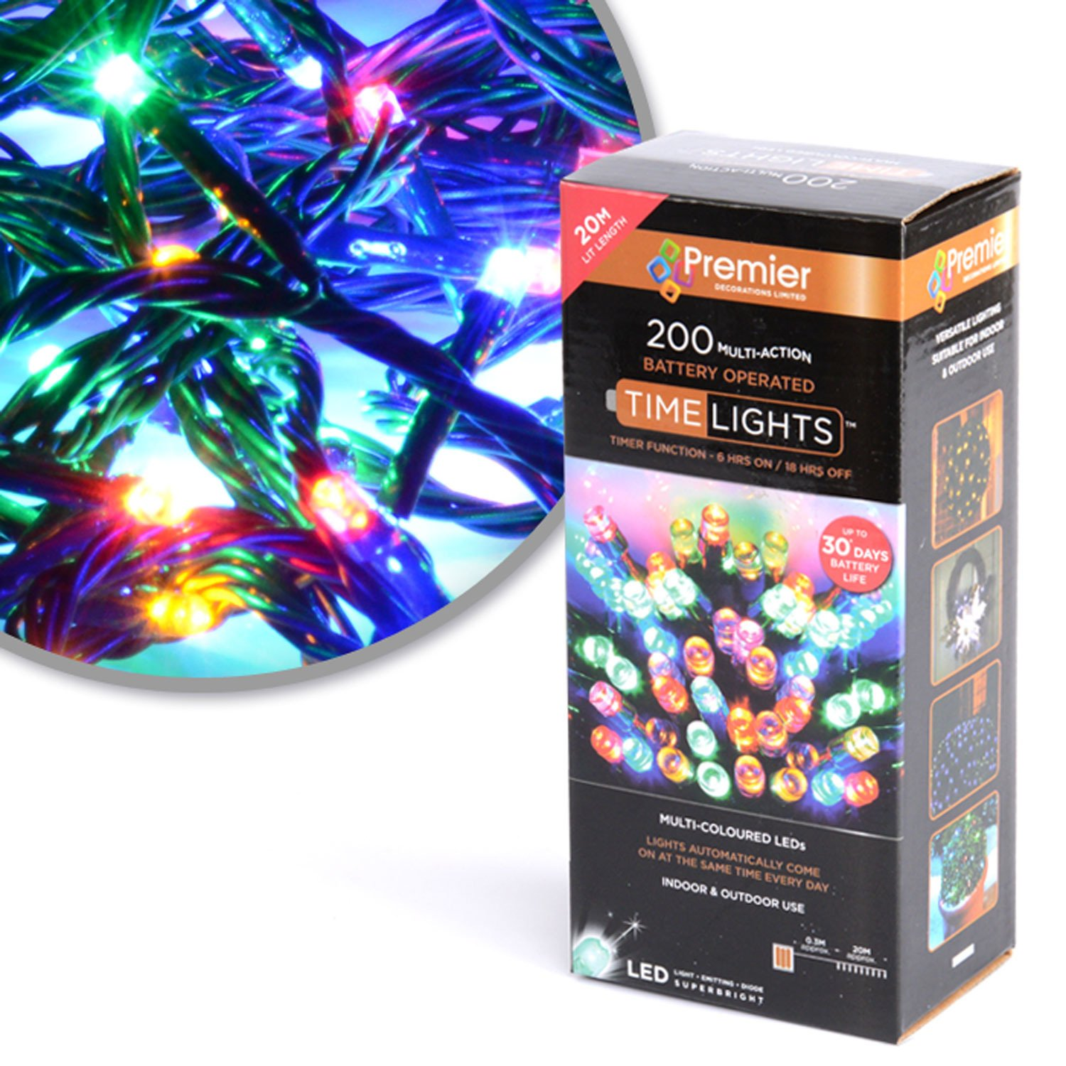 Premier Lb112384m B O 200 Led Lights Multi Colour Ledchristmaslightingusingtransistors Kitchen Home