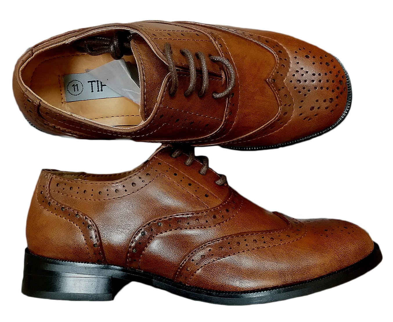 Avery Hill Boys Lace-Up Formal Oxford Style Dress Shoes - BRWN Toddler 8 Brown by Avery Hill (Image #2)