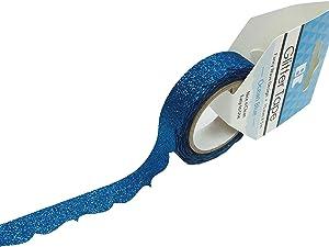 Best Creation Glitter Tape Design Fancy Wave - Ocean Blue, 15Mm5M