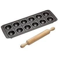 Kitchen Craft Italian Collection - Molde antiadherente para raviolis (incluye rodillo)