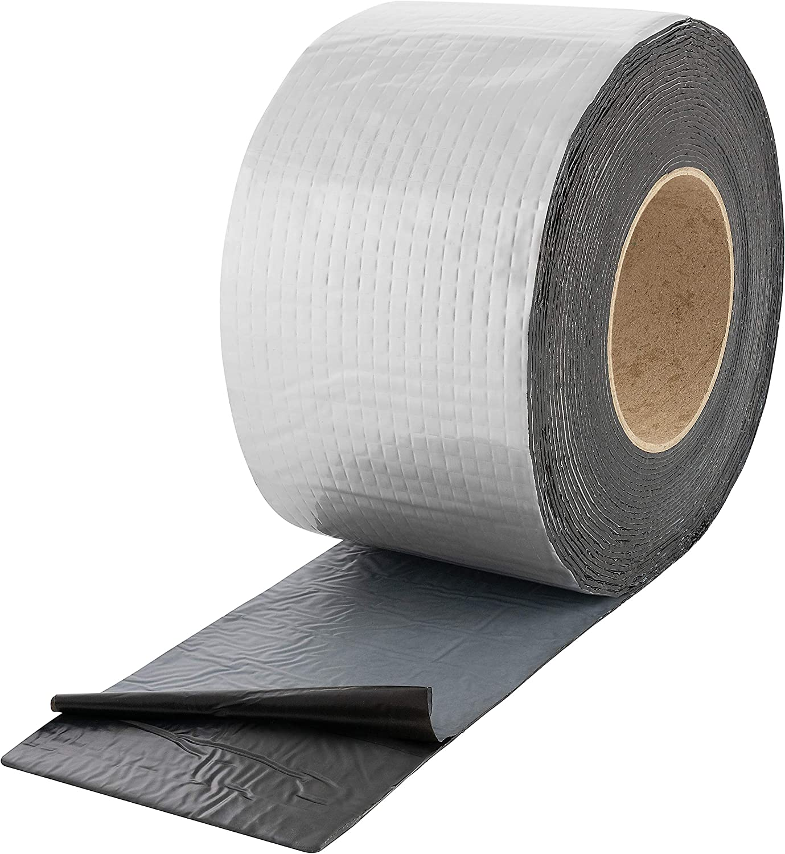Poppstar Alu Butyl Klebeband 5 m x 50 mm x 1,5 mm Aluminium Dichtband selbstklebend schwarz