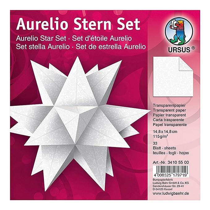 Ursus 34105500 Faltblätter Aurelio Stern Transparentpapier 148 X 148 Cm White Line Orient