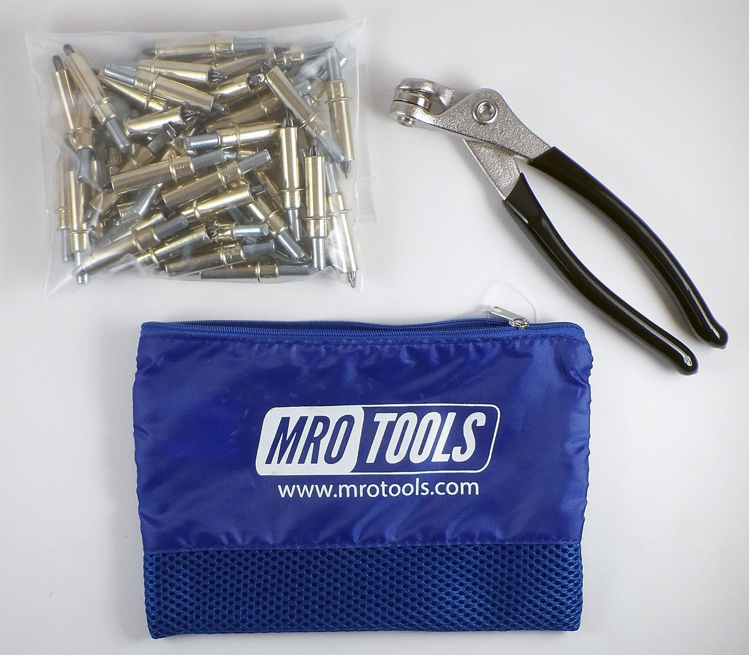 50 3/16 Cleco Sheet Metal Fasteners + Cleco Pliers w/Carry Bag (K1S50-3/16) by MRO Tools Cleco Fasteners