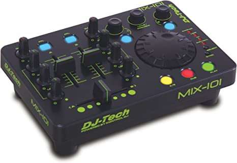 DJ TECH MIX-101 - Mesa de mezclas (USB, 2 canales): Amazon.es ...