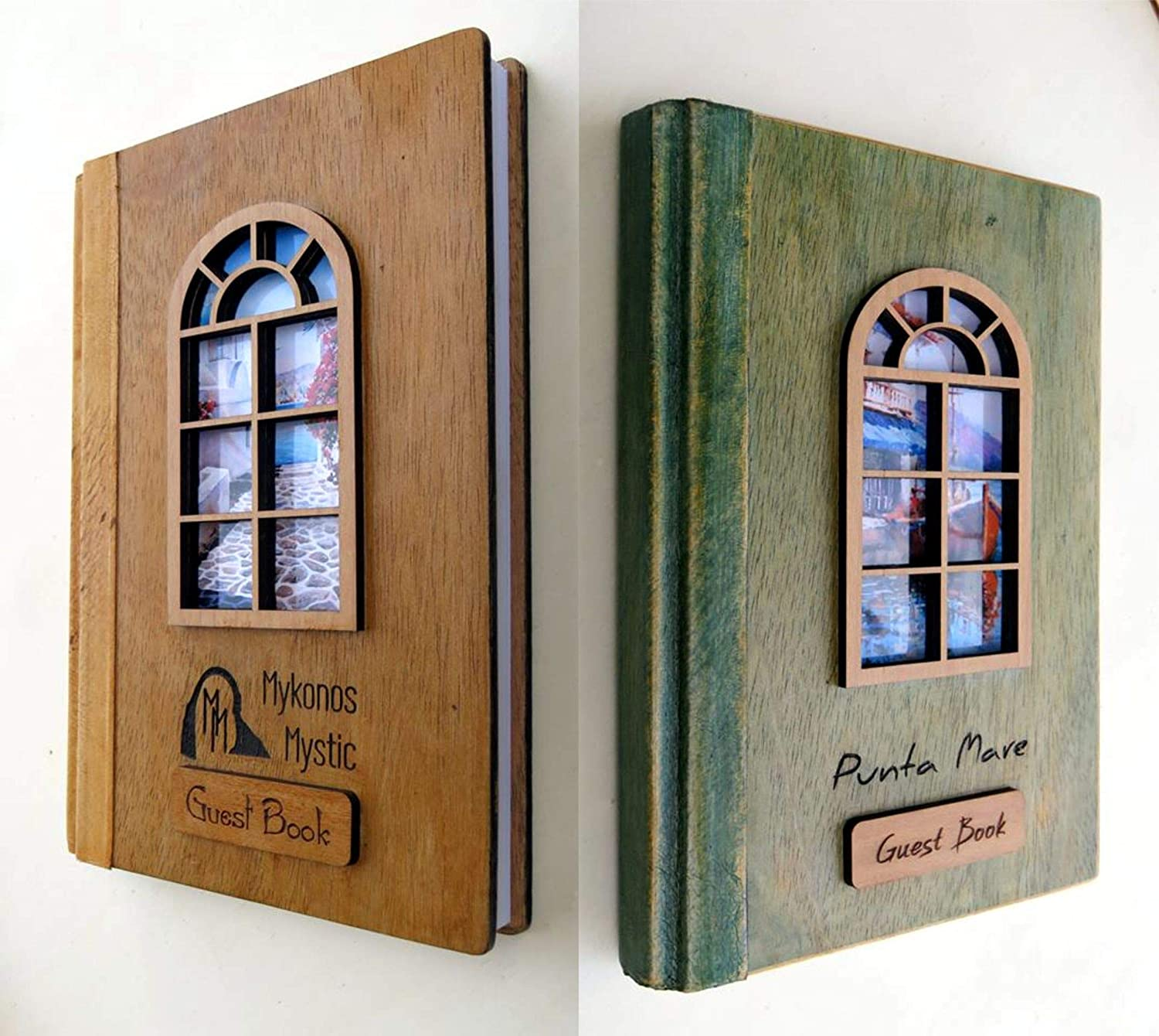 Amazon Com Personalized Wood Wedding Guest Book Size 8 3