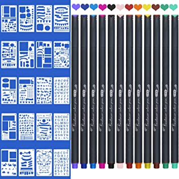 """Planner Stencil set of 12 Bullet Journal Diary Scrapbooking 4/""""x 7/"""" Craft Tool"""