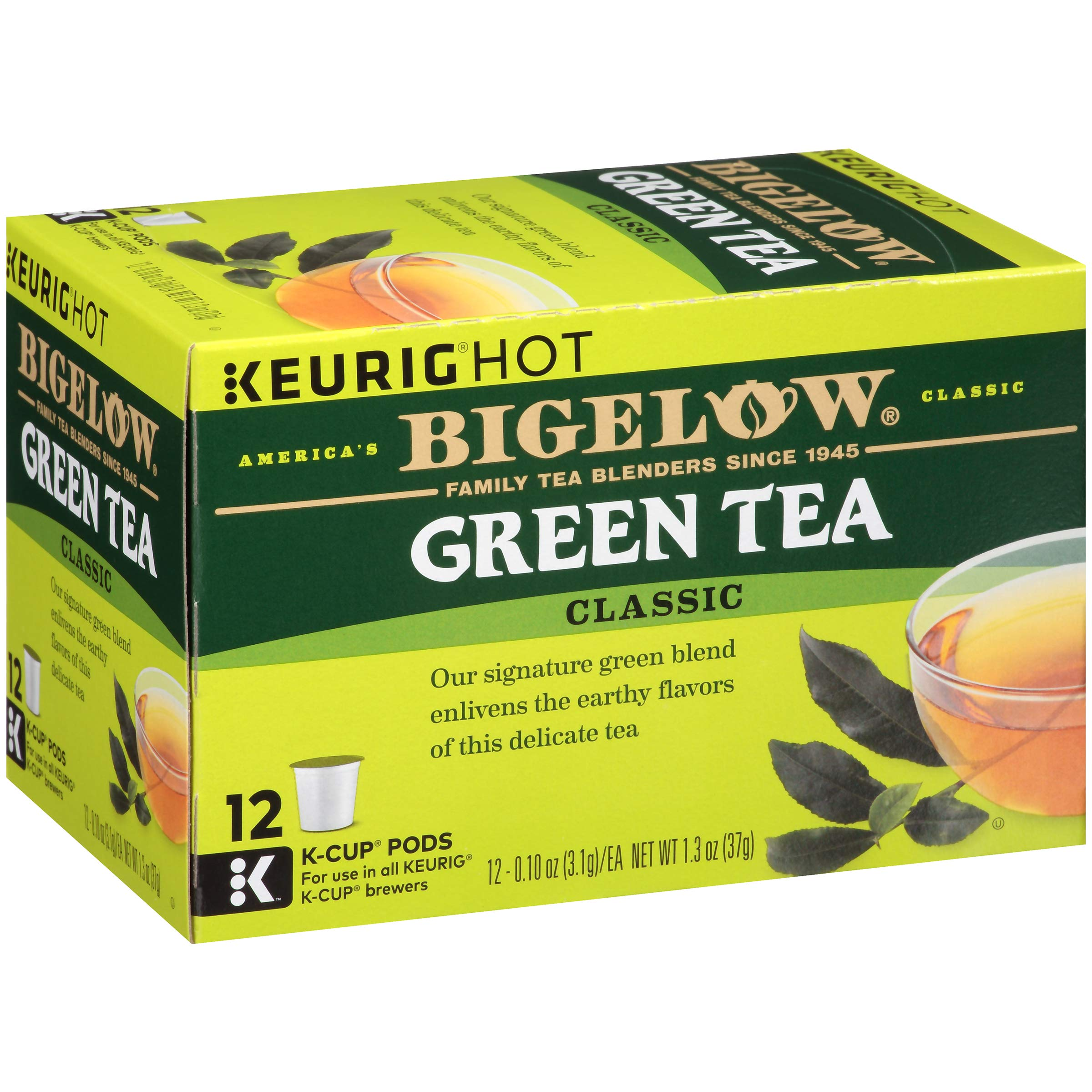 Bigelow Green Tea Keurig K-Cups, Box of 12 Cups (Pack of 6) 72 K-Cup Pods Total , Single Serve Portion Premium Tea in Pods, Compatible with Keurig & other K Cup Coffee & Tea Brewers by Bigelow Tea