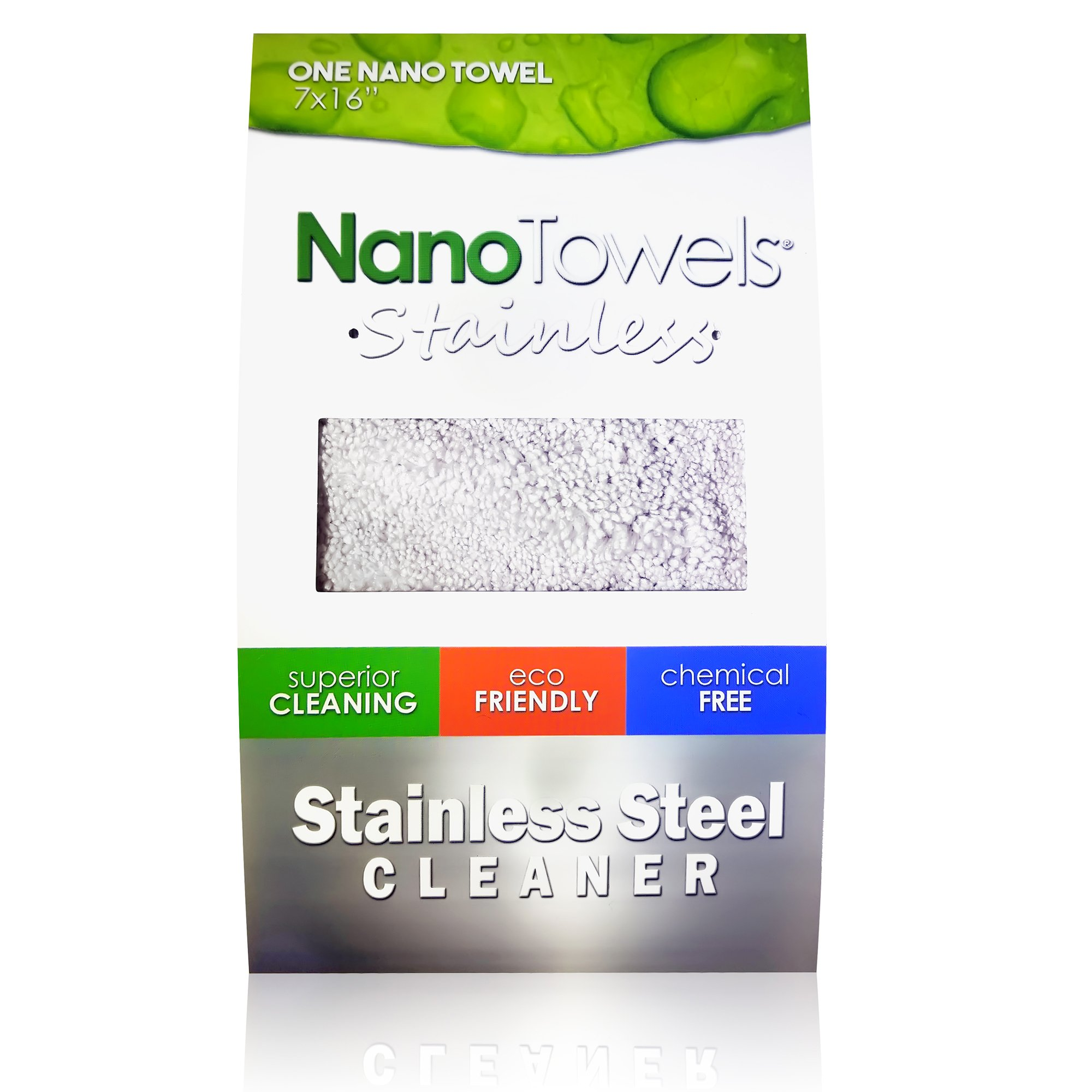 Nano Towels Stainless Steel Cleaner - Chemical Free Cleaning Towel