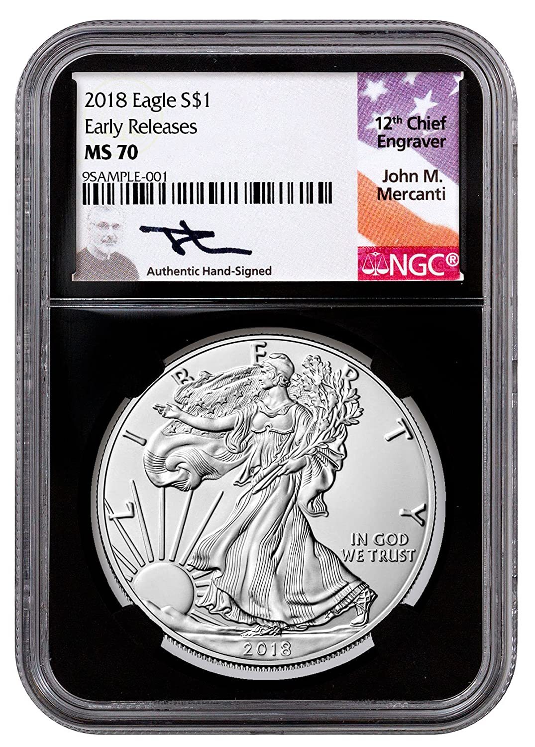 NGC MS70 2018 American Silver Eagle