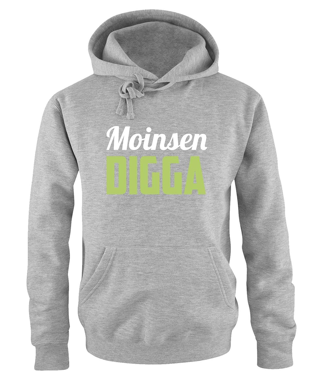 Herren Hoodie Print-Pulli Moinsen Digga Comedy Shirts K/ängurutasche Langarm Kapuze
