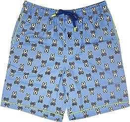 Psycho Bunny Mens Printed Woven Jam Lounge Shorts