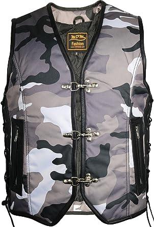 united kingdom finest selection special section MDM Men's Gilet Camouflage Schwarz/weiß 4XL: Amazon.co.uk ...