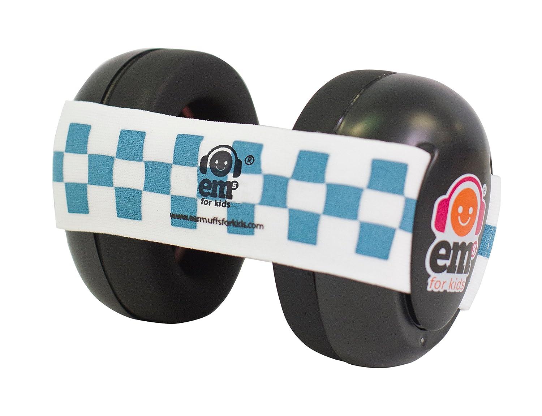 Em's 4 Bubs Baby Earmuffs Casque anti-bruit avec bandeau pour Bébé Bleu/Blanc Em's 4 Bubs 111.82.432