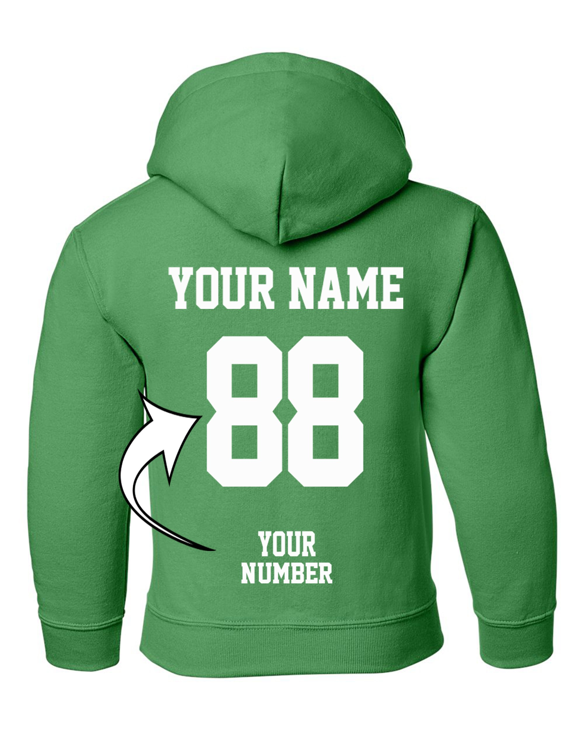 Tee Miracle Custom Hoodies For Youth - Design Your Own Jersey - Pullover Hooded Team Sweaters