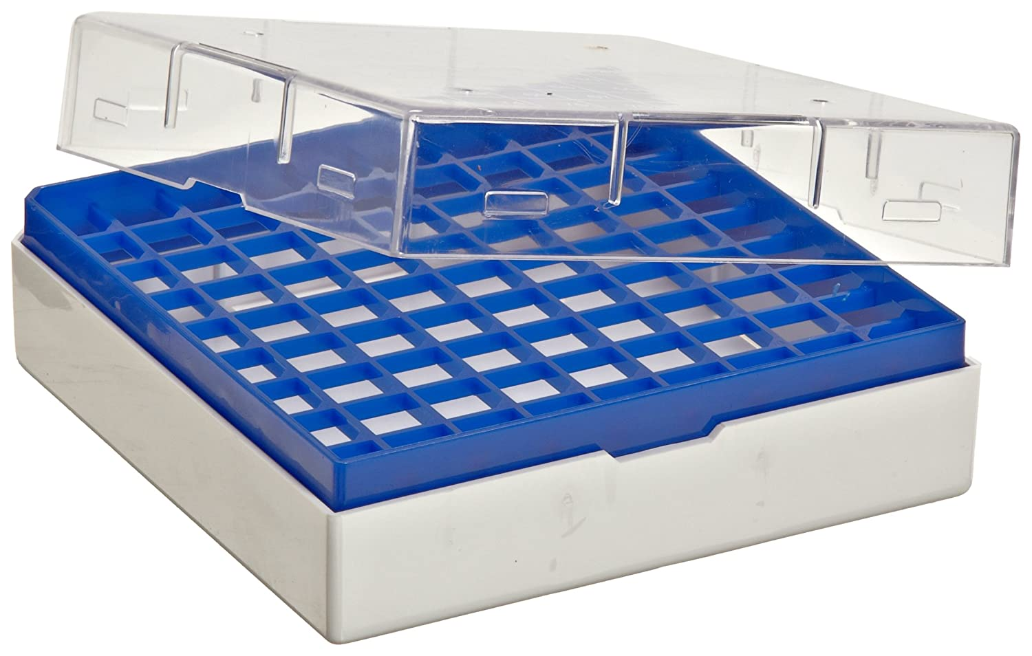 1.2-2.0ml Plastic Pack of 8 Bel-Art F18849-0000 Cryo-Safe Vial Storage Box; 25 Places 3 x 3 x 2 in.