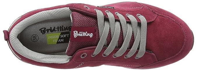 Novel, Damen Sneakers, Rot (Bordeaux/Grau), 37 EU Brütting