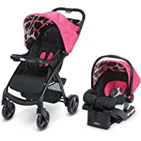 Graco Verb Travel System | Includes Verb Stroller and SnugRide 30 Infant Car Seat, Azalea