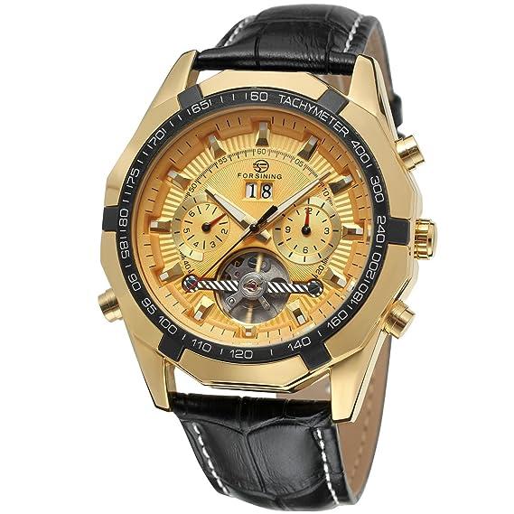 forsining reloj de muñeca Tourbillon Automático Fantástico hombre fsg340 m3t7: Amazon.es: Relojes