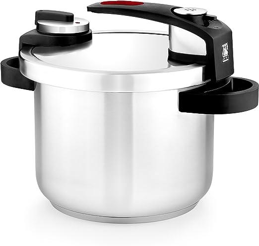 BRA Tekna - Olla a presión rápida 4 litros de fácil uso, acero ...