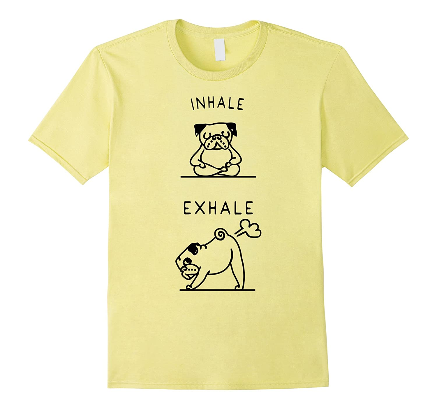 Love Pug Yoga Mediation Tshirt Inhale Exhale Cd Canditee Inhalation And Exhalation Diagram