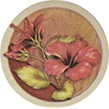 Thirstystone Stoneware Hibiscus Coaster, Multicolor
