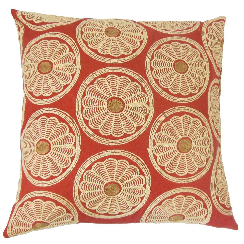 The Pillow Collection Bernique Floral Throw Pillow Cover