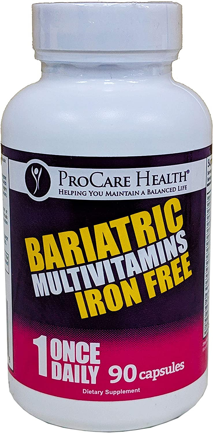 ProCare Health Iron Free Bariatric Multivitamin Capsule 90ct 3 Month Supply