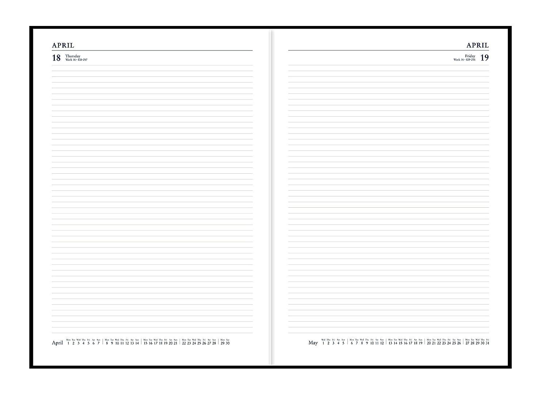 Collins Essential 2019 - Agenda (A4, 1 día por página), color azul (Versión Inglesa)