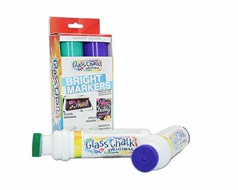 Amazon.com: Marcadores de gis, para vidrio., Verde y Púrpura ...