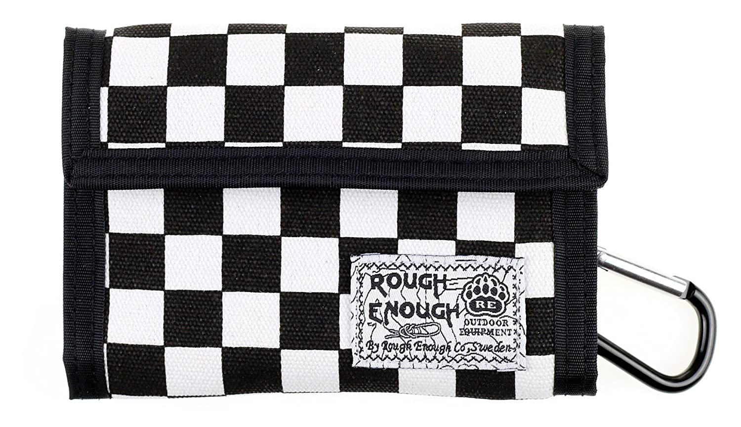 Rough Enough Premium Canvas Checkerboard Checker Plaid Tartan Sports Outdoors Travel Classic Basics Portable Trifold Coin Large Wallet Purse Holder Organizer Case with Zippers for Kids Boys Men Women ROUGH ENOUGH INC.