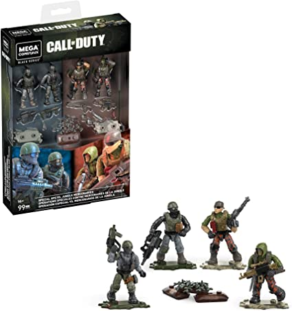 Amazon Com Mega Construx Special Ops Vs Jungle Mercenaries Call Of Duty Collectible Character Buildable Micro Action Figure Toys Games