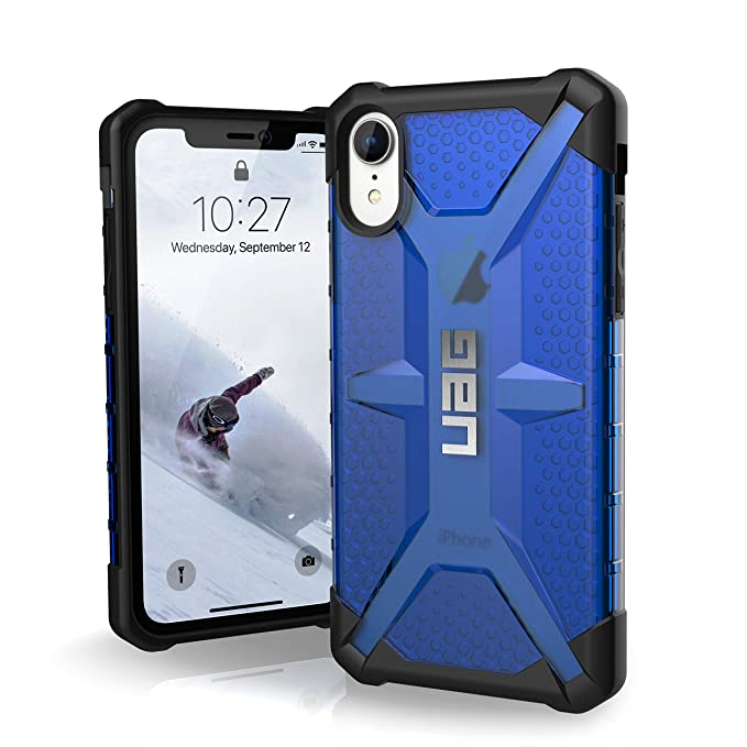 size 40 9276f 29bae URBAN ARMOR GEAR UAG iPhone XR [6.1-inch Screen] Plasma Feather-Light  Rugged [Cobalt] Military Drop Tested iPhone Case