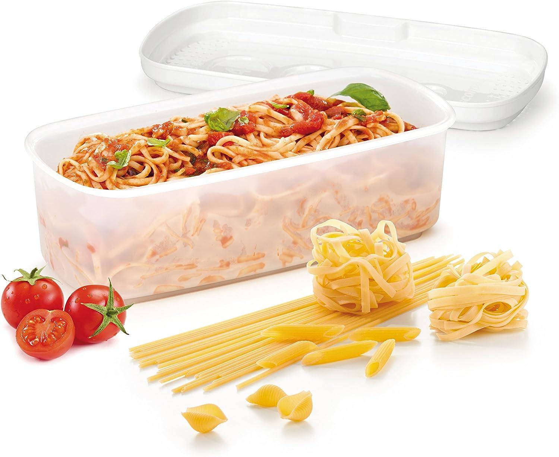 Tescoma Cuece Pasta Purity Microwave, Blanco, 33.30x14.4x10.5 cm: Amazon.es: Hogar