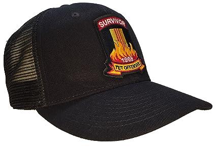 Amazon.com   Tet Offensive Hat Black Mesh Back Trucker Style ... 6ae2bb83913
