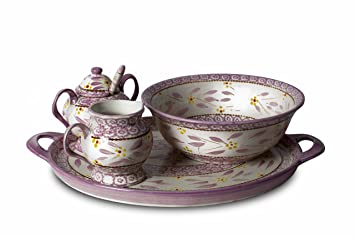 Temptations 5 Pc Old World Dinnerware Complete Set