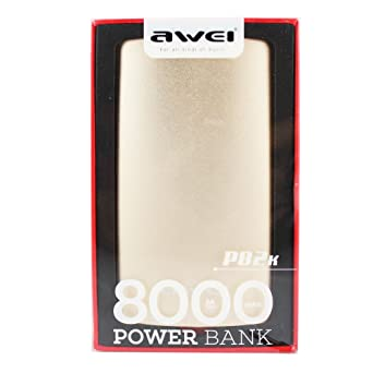 Awei P82K Outdoor Powerbank 8000 mAh Portable Charger with Fast Charging and Capacity Indicator   Gold