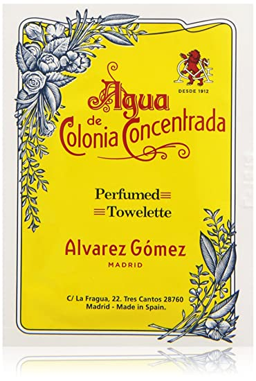 Alvarez Gomez Agua De Colonia Concentrada for Men Perfumed Towelettes, 1.0 Ounce