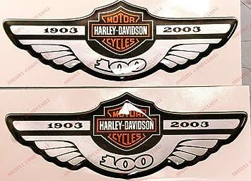 Adesivi Compulsivi - Adhesivos resinados con el emblema/logotipo de Harley Davidson - Logotipo clásico