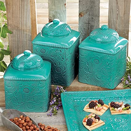 Beau Savannah Turquoise Canister Set