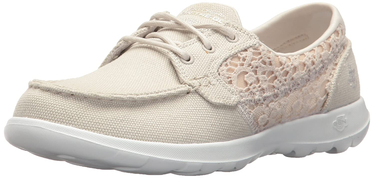 Skechers Women's Go Walk Lite-15431 Boat Shoe B072NCTX8B 8.5 B(M) US|Natural