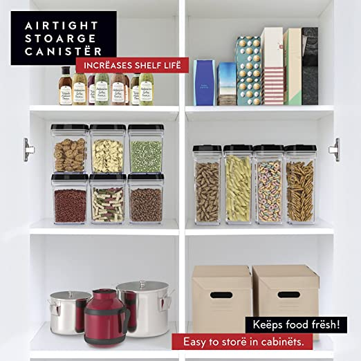 Amazon.com DWËLLZA KITCHEN - Airtight Food Storage Containers with Lids - 4 Piece Set/All Same Size - Large Air Tight Clear Durable Plastic Food Containers ...  sc 1 st  Amazon.com & Amazon.com: DWËLLZA KITCHEN - Airtight Food Storage Containers with ...