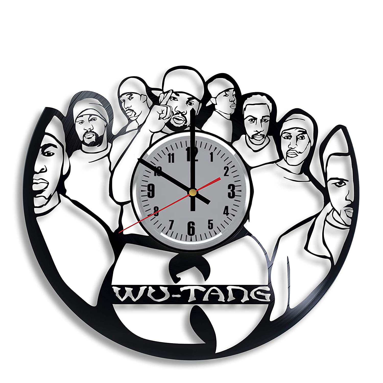 Amazon Com Wu Tang Clan Vinyl Wall Clock Art Handmade Home Room